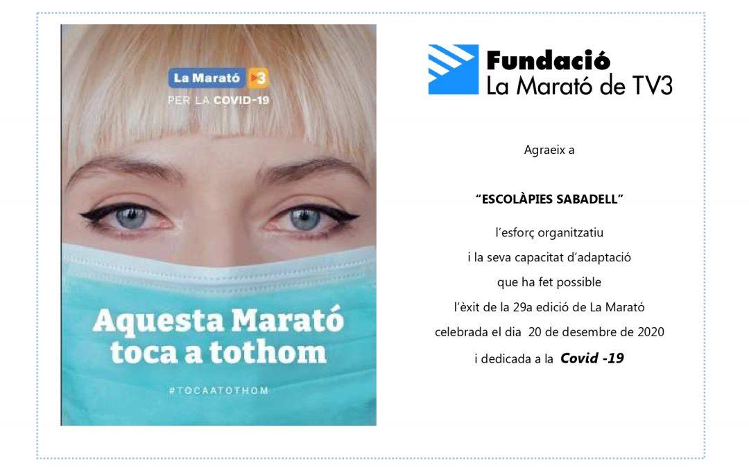 La Marato de TV3 i les Escolàpies Sabadell